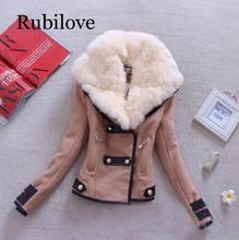 Rubilove Women Woollen Casual Coat Winter Autumn 2017  Fashion New Brand Plus Size S-XXL Zipper Slim Solid Parka Casaco Feminin