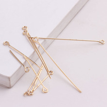 100pcs diy handmade accessories basic accessories 9 - pin gold plating color - preserving high leather earring materials