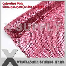 HOT PINK Metal Fabric Mesh Without Iron On Glue Aluminum Mesh For DIY Dress(China)