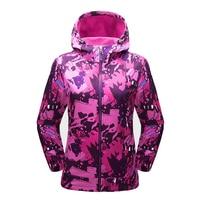 TECTOP Womens Spring Thick Printing Jackets Outdoor Sports Hiking Elastic Softshell Climbing Trekking Camping Female Coats VA474