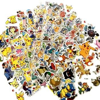30pcs / set Pikachu Pokemon Bubble Cartoon Sticker Toy игрушки Pokemon Monster Toy Action Figures Model Toys Child Birthday toys the official pokemon sticker book