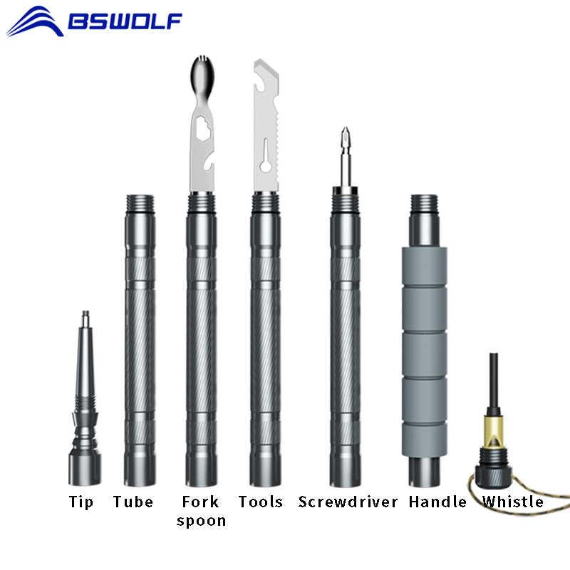 Survival Multifunction Tactical Stick Walking Cane Trekking Pole Alpenstock T3