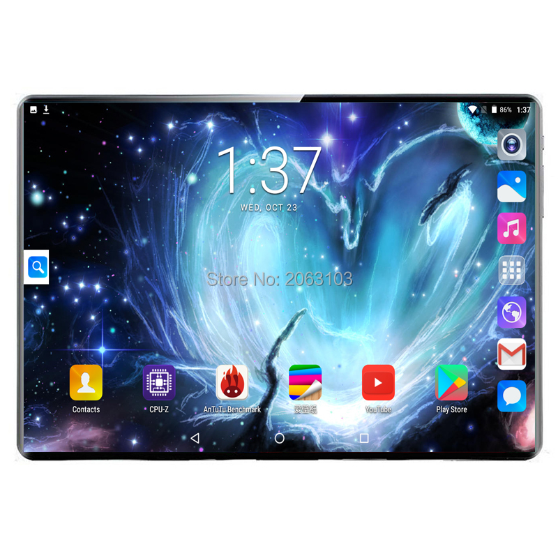 Hot New Android 9.0 OS 10 Inch Tablet Pc Deca Core 8GB RAM 128GB ROM 8 Cores 1920*1200 IPS Screen GPS Tablets 10.1 Gift