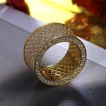 2021 кольцо cz кольца на палец Золотой/белый цвет микро паве