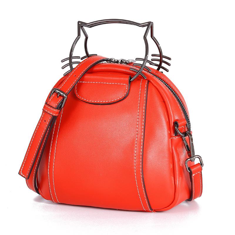 Cowhide Bag Women's 2019 Winter New Style Fashion Korean-style Versatile Shoulder Bag Fashion WOMEN'S Leather Bags Shoulder Bag