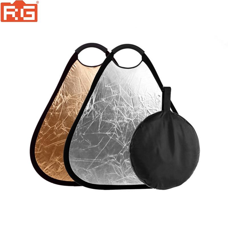 2в1 80 см Золотой/Серебряный портативный складной Ручной отражатель для фотосъемки с сумкой отражатель для фотосъемки