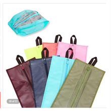 Portable Travel Supplies Organizer Shoes Storage Bag PVC Waterproof Dustproof Hanging Save Space Zipping Bags Home 1pc