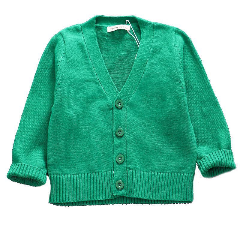 New Autumn Toddler Girl Sweater Baby Boy Clothes Girls Knitted V-Neck Cardigan Kids Candy Colors Christmas Sweater Children Tops