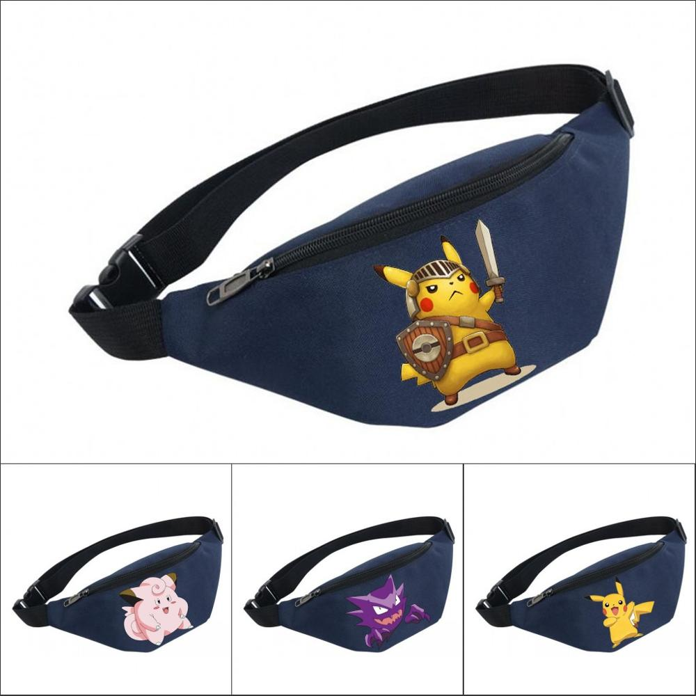 Anime Pikachu Pack Women Belt Waterproof Chest Handbag Waist Bag Ladies Waist Pack Belly Bags For Onmyoji