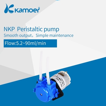 Kamoer NKP Peristaltic Pump Mini DC Water Pump 12V/24V, BPT/Silicone Tube, Straight/L Type image