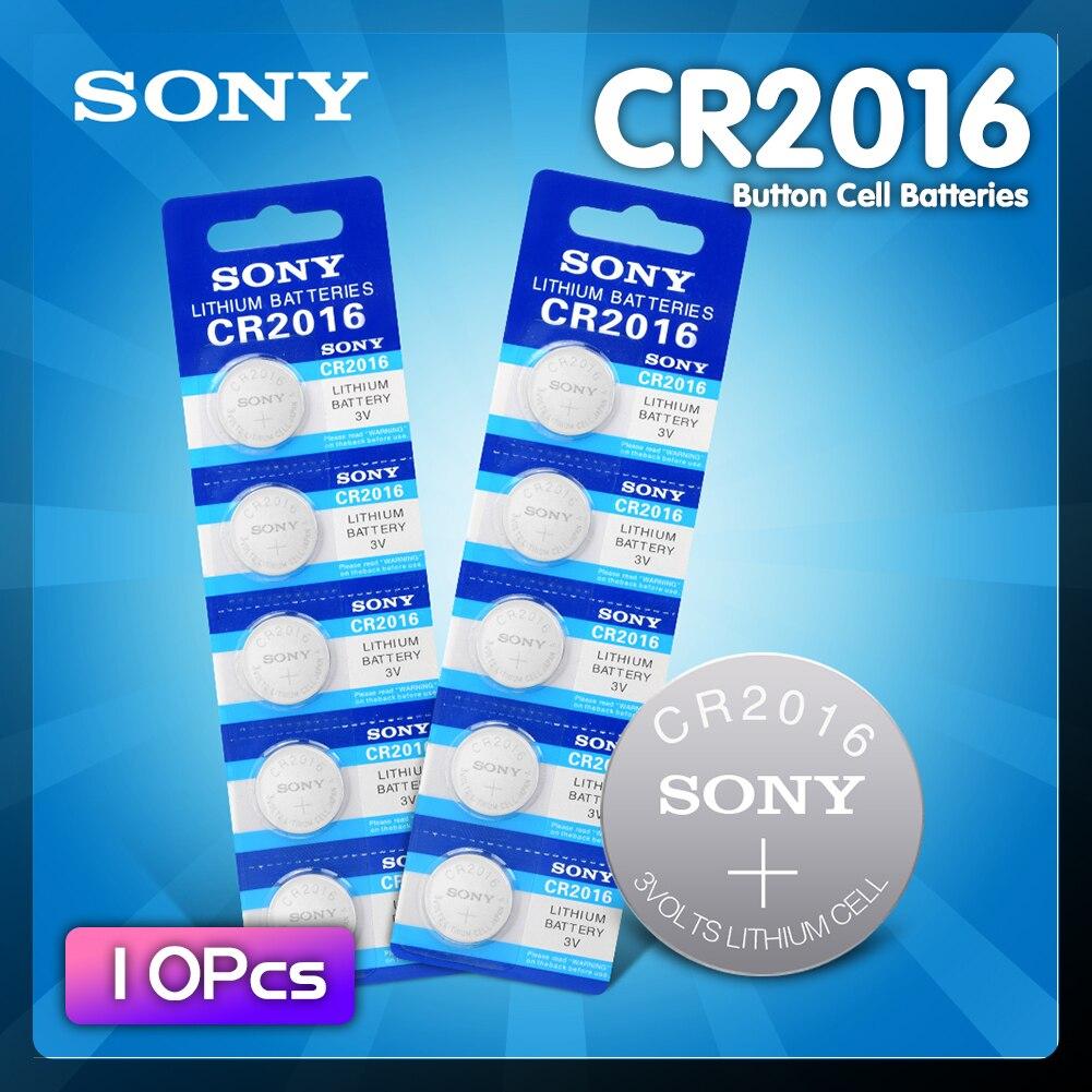 10 шт., Литиевые кнопочные элементы для Sony CR 2016 3 в, батарея DL2016 KCR2016 CR2016 LM2016 BR2016 высокой плотности энергии