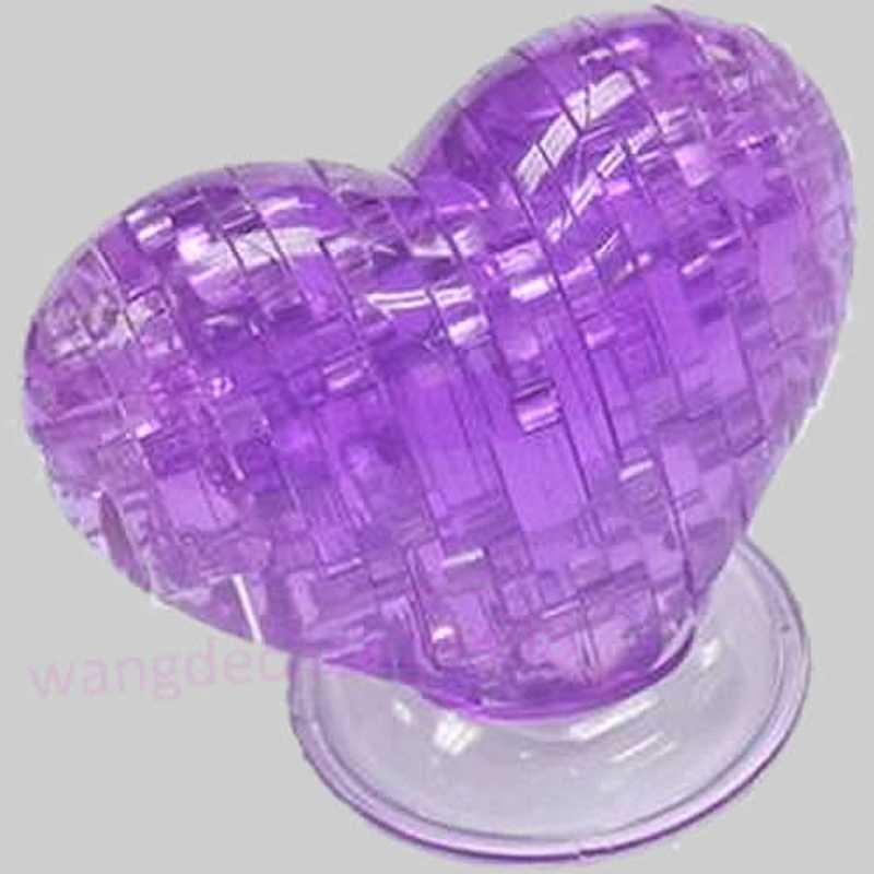 Rompecabezas de cristal 3D, modelo Souptoy Gadget amor corazón IQ juguete DIY regalo nuevo Y4UD