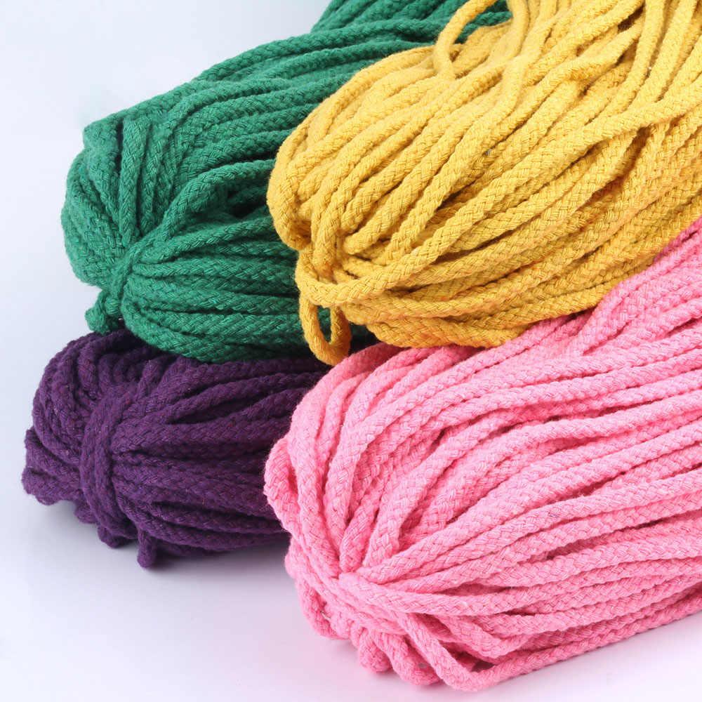 5mm filo di cotone ecologico corda attorcigliata ad alta tenacità filo fai da te tessile artigianale stringa tessuta decorazione della casa Touw