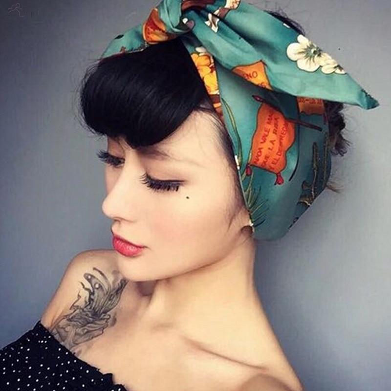 AOMU Elastic-Headbands Headwears Hair-Accessories Elegant Rabbit Korean Girl Women Print
