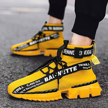 Men Running Shoes Lightweight Sneakers 2020 New Outdoor Ultralight sports high top socks shoes trendy shoes Zapatillas De Hombre