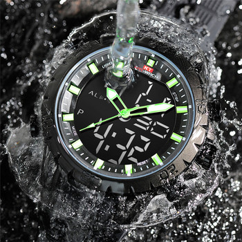 Mens Sports Watches Military Waterproof Wristwatches Dual Display Led Quartz Analog Digital Watch Men Relogio Masculino Reloj image