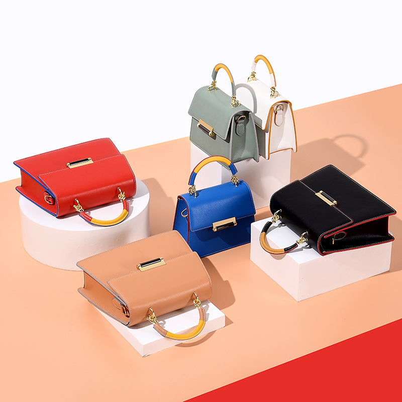 2019, Women's Fashion Handbag, Original Design, Women's Leather, Simple Women's Bag, Genuine Leather Bag.