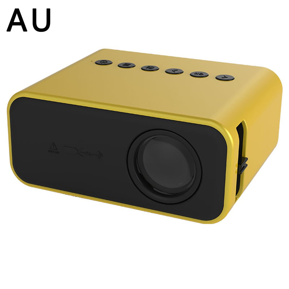 YT500 projector wired same screen LED projector home media mini projector home media player children gift yellow(optional)
