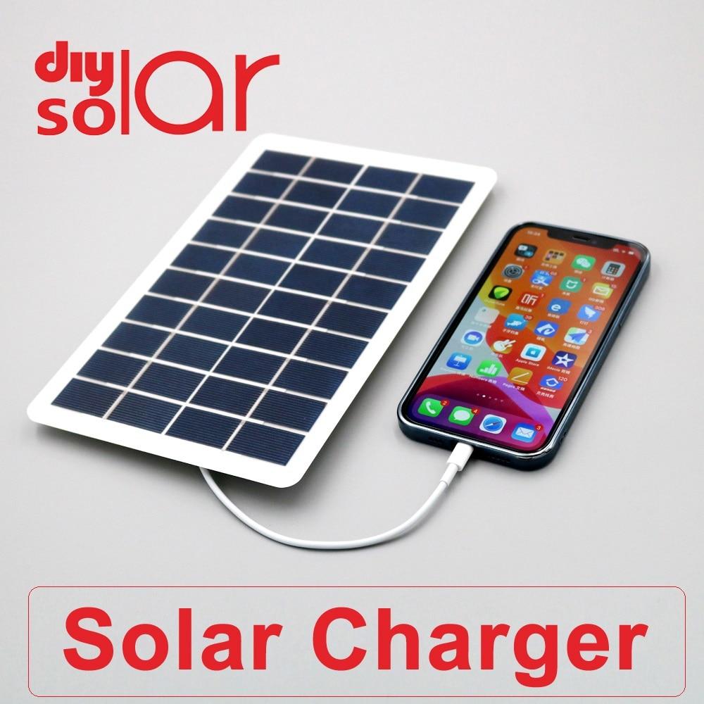 5 V 1.5W 2W 4W 5W 7.5W Output USB Solar Battery Charger USB Female port 5.5V 2W Charge Regulators Solar Panel 3.7V 18650|Solar Cells| - AliExpress