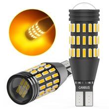 2x CANBUS 912 921 T15 W16W LED NO ERROR Car Backup Reverse Lamp Tail Brake Light Bulb For Hyundai Tucson 2017 Creta Amber Red