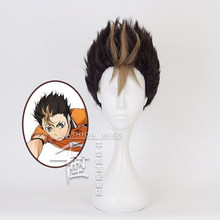 Anime Haikyuu!! Nishinoya Yuu Short Wig Cosplay Costume Heat Resistant Synthetic Hair Haikiyu Karasuno Carnival Party Wigs