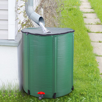 50 Gallon Vouwen Regen Vat Water Collector Vouwen Regen Vat Water Collector Opvouwbare Regen Water Opslag Tool Green