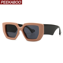 Peekaboo black thick frame sunglasses for women brown gift items square sun glas