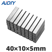 AI DIY 2/5/lot pcs 40x10x5mm neodymium magnets N35 super strong Block powerful magnet 40 * 10 5mm Craft Fridge