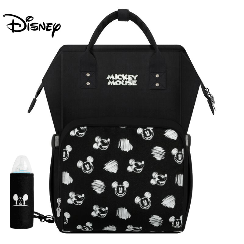 Disney Diaper Bag Backpack Baby Bags For Mom USB Travel Wet Nappy Boy Girl Diaper Organizer Mickey Mouse Pram Wheelchairs