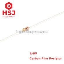 1000pcs 1/6W 5% Resistor de Filme de Carbono 0R ~ 10M ohms 0.1R 0.36R 1R 2.2R 5.1R 22R 33R 47R 100R 220R 1M 5.6M 10 330R 470K 910K M