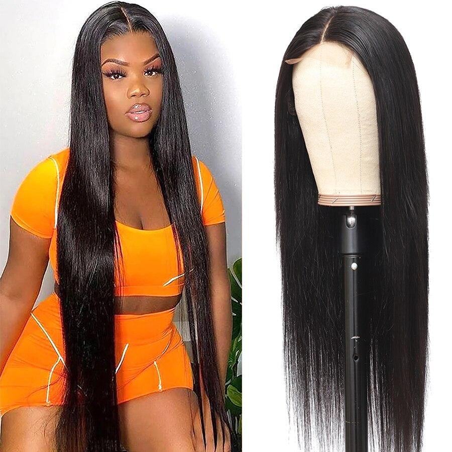 Beaushine cabelo 30 polegada em linha reta perucas de cabelo humano para as mulheres brasileiro em linha reta rendas encerramento peruca 250 densidade 4x4 peruca do laço remy cabelo