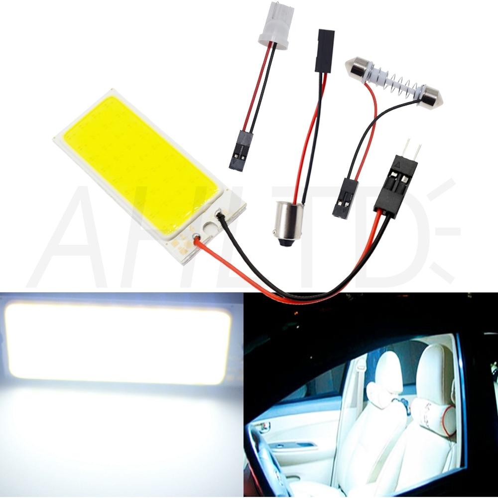 H077252af9059483ba31704b3c0aee8a8A Car Led T10 C5W Cob 24 36 48SMD White Reading Car Led parking Bulb Auto Interior Panel Light Festoon License Plate light Bright