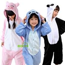 Pajamas Onesie Unicorn Panda Children Sleepwear Girls Kids-Set Flannel Kigurumi Winter