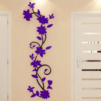 3D DIY Vase Flower Tree Removable Art Vinyl Wall Stickers Decal Mural Home Decor For Home Bedroom Decoration Hot Sale 9