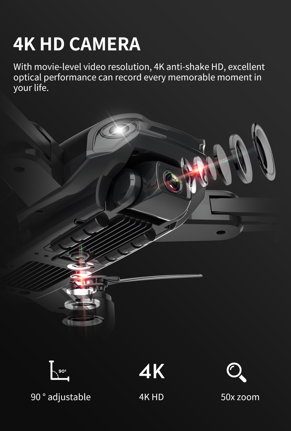 Professional GPS Drone 4K with Dual Camera Hd 5G WiFi