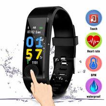 купить 2019 Wrist Band Watch Smart Band Fitness Activity Tracker Smart Bracelet Blood Pressure Health Wristband For Women Men дешево
