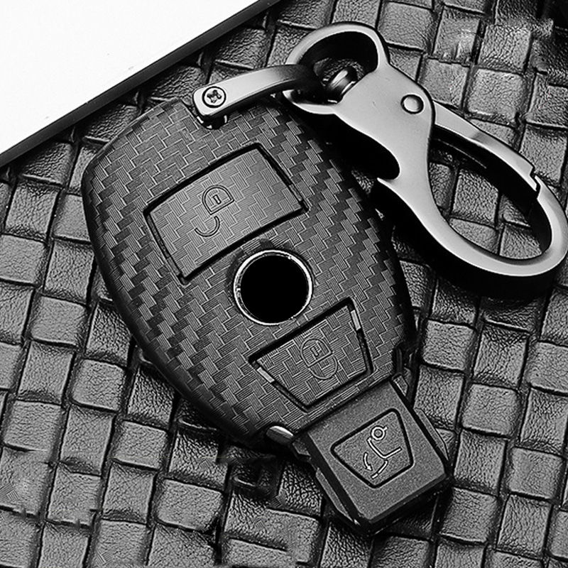 Scrub ABS car key protect case cover For Mercedes Benz BGA AMG W203 W210 W211 W124 W202 W204 W205 W212 W176 E Class W213 S class image