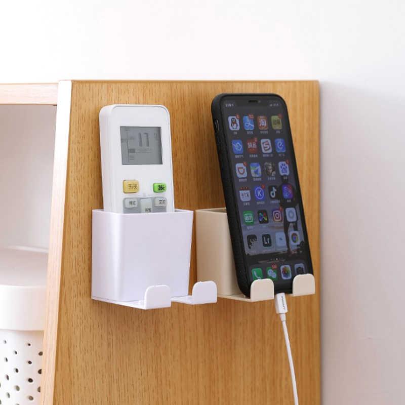 TV Air Conditioner Remote Control Wall Mount Holder Case Storage Box Organizer S