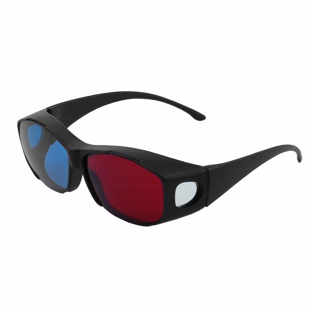 Uniwersalny typ 3D okulary TV Movie wymiarów Anaglyph liczba klatek na sekundę wideo 3D Vision okulary DVD gry szkło czerwony i niebieski kolor najnowszy