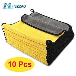 Toalha extra macia de microfibra, toalha para lavagem e limpeza de carro, 3/5/10 peças nunca desaparece