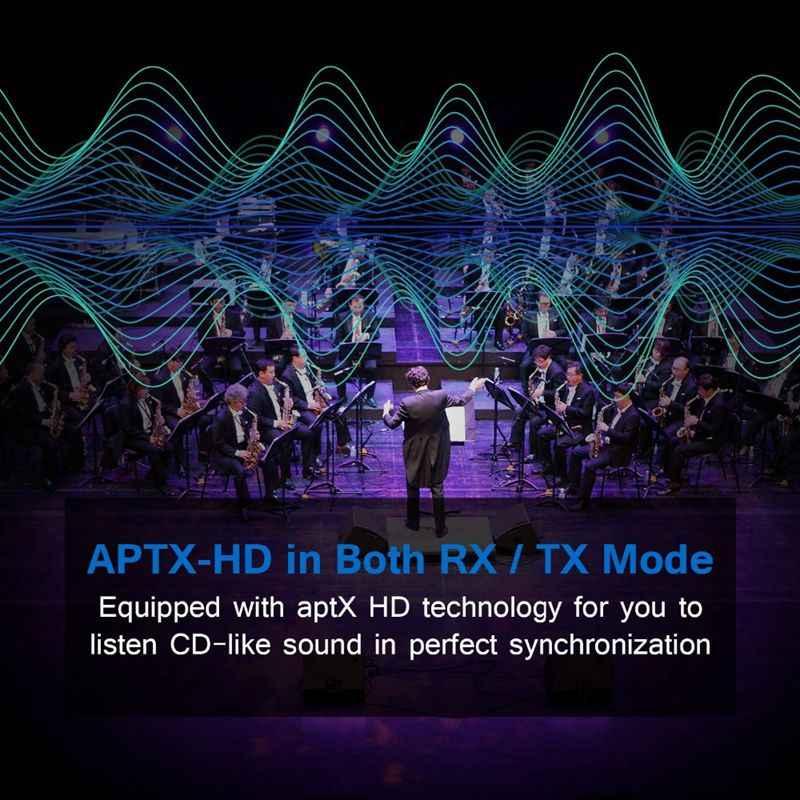 Csr8675 nadajnik bluetooth 5.0 Aptx adapter hd 3.5 Mm/Spdif/cyfrowy optyczny dla głośnik samochodowy, bluetooth audio odbiornik