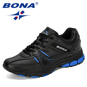 Image 5 - BONA 2019 Novos Designers de Separação Da Vaca Tênis de corrida Ao Ar Livre Calçados Esportivos Homens Sneakers Shoes Athletic Training Calçado Homem Comfortabe