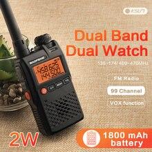 Baofeng UV 3R ווקי טוקי סימן 136 174/400 470 MHz Dual Band שתי דרך רדיו Doppia Frequenzy תצוגת עקב vie רדיו CB רדיו חם