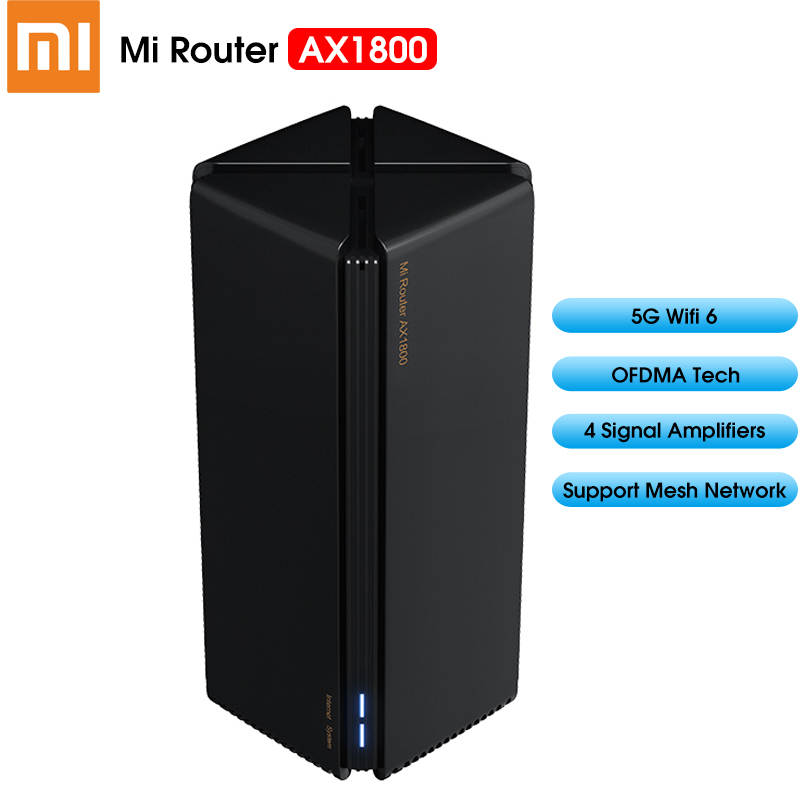 2020 Xiaomi Router AX1800 Wifi 6 Gigabit 2 4G 5GHz Qualcomm 5 Core Dual-Band Router OFDMA High Gain 2 Antennas Wider Mi Router