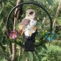 Светодиодный светильник для сада  солнечные ночники в форме совы  подвесной светильник  украшение