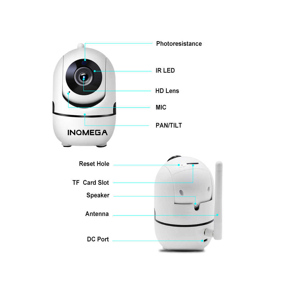 INQMEGA 1080P Full HD ไร้สายกล้อง IP Home Security กล้องเฝ้าระวังเครือข่ายสองทางเสียงกล้องวงจรปิดกล้อง