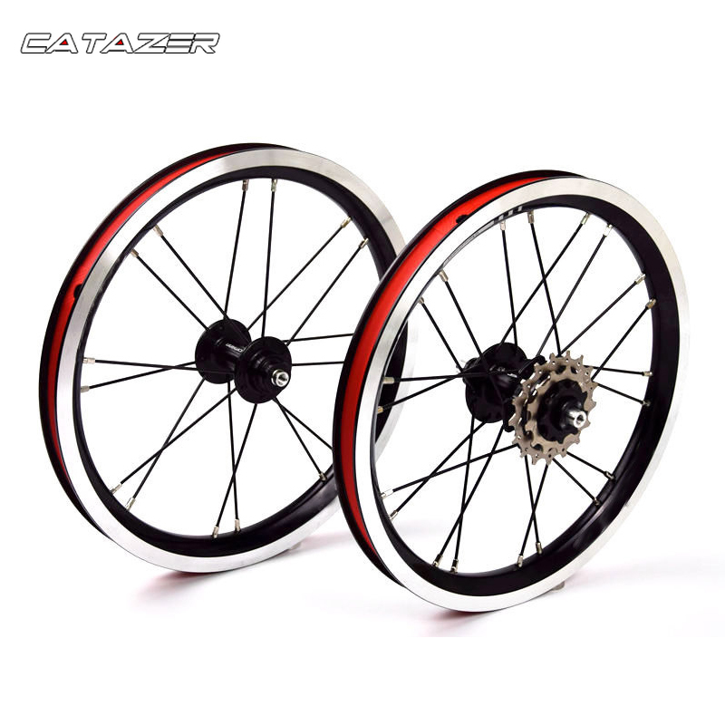 14 inç alüminyum alaşımlı tekerlek 5 rulman 3 hızlı Hub 74mm 84mm çocuklar denge bisiklet BMX siyah tekerlek bisiklet parçası