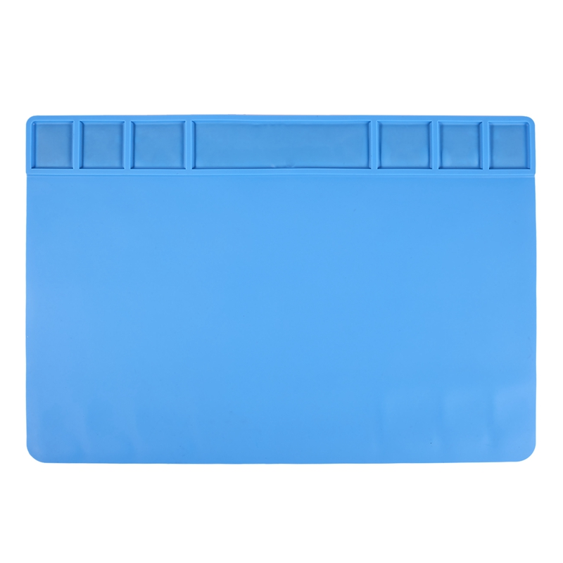 49X35Cm With Magnetic Screw Mat Section Heat Insulation Silicone Pad BGA Soldering Repair Station Maintenance Platform