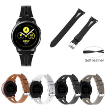 For Samsung Galaxy Watch Active WristBand Genuine Leather Soft Top Layer Band Replacement New Strap Bracelet Bands