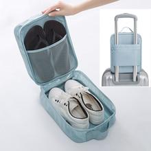 цена на Portable travel shoe bag home dustproof shoes bag large travel shoes organizer storage bag sports waterproof shoes and socks bag